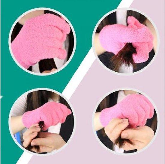 Microvezel haar handschoen - microvezel - microvezel  1 Paar handschoen - Audrey Trading
