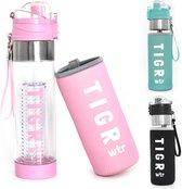 TIGR The Infuser - Drinkfles met fruitfilter - 100% BPA vrij - 700ML - Roze