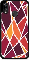 Huawei P20 Lite Hardcase Hoesje Colorful Triangles