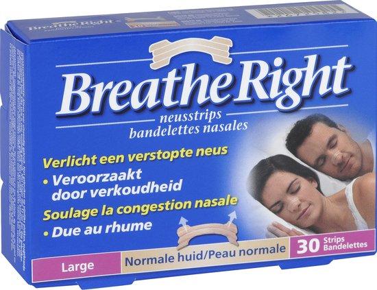 Breathe Right - 30 st - Neusstrips - Normale huid - Antisnurkmiddel
