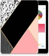 iPad 9.7 2018 | 2017 Siliconen Tablethoesje Black Pink Shapes