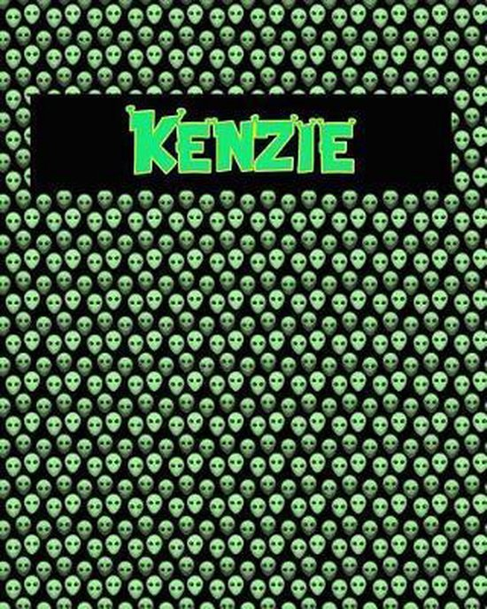 120 Page Handwriting Practice Book with Green Alien Cover Kenzie