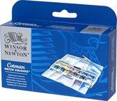 Winsor & Newton Cotman Aquarelverf Pocket Plus Set 12 halve napjes