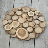 Onderbord mix hout dia40x3cm