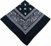 Bandana - Katoenen hoofdband - Sport accessoire - Paisley print - Zwart
