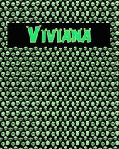 120 Page Handwriting Practice Book with Green Alien Cover Viviana
