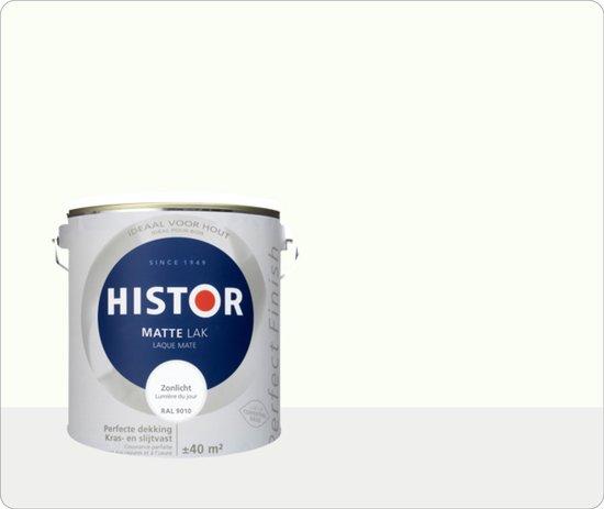 Histor Perfect Finish Lak Mat 2,5 liter - Zonlicht (Ral 9010)