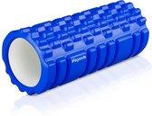 LifeGoods Grid Foam Roller - Yoga - 33cm - Blauw