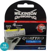 Wilkinson Quattro Titanium Precision Scheermesjes Voordeelverpakking