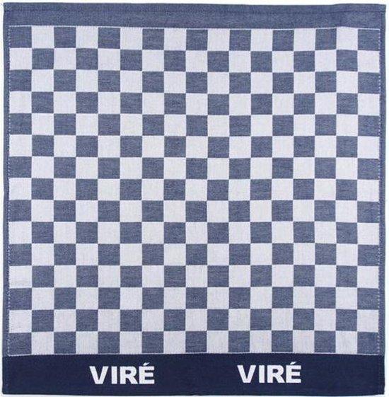 Viré Kitchen Blok Theedoek (6 Stuks) - 60x60 cm - Blauw