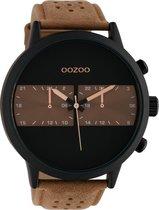 OOZOO Timepieces Bruin/Zwart horloge  (50 mm) - Bruin