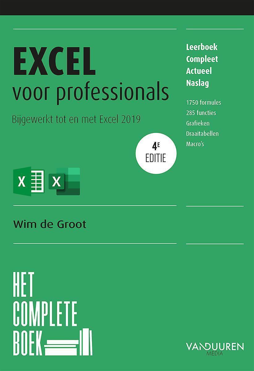 Het complete boek - Het complete boek Excel voor professionals, 4e editie