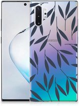 Samsung Galaxy Note 10 Plus Siliconen Hoesje Leaves Blue