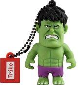 SilverHT Tribe Disney Marvel Avengers Hulk - Memoria USB 2.0 de 16 GB Pendrive Flash Drive de goma con llavero, color verde USB flash drive