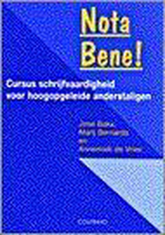 Boek cover Nota Bene van J. Bakx (Paperback)