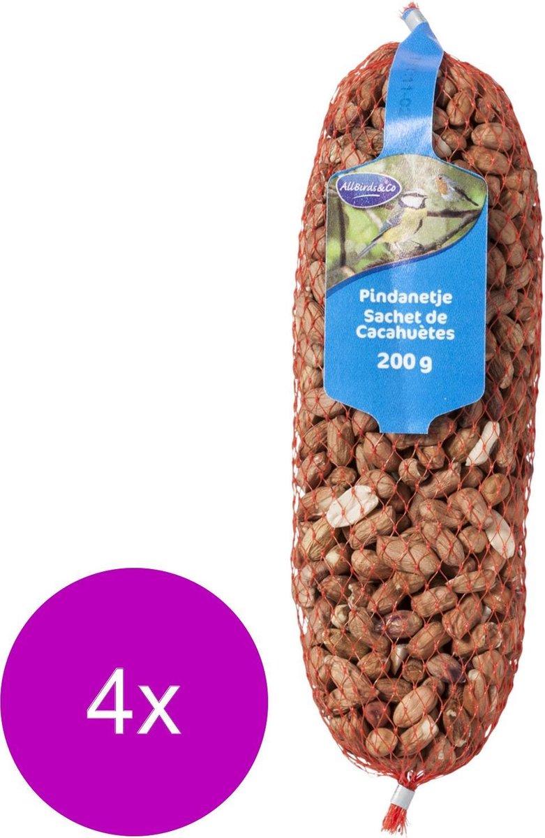 Allbirds&Co Pindanetje - Buitenvogelvoer - 4 x 200 g