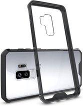 Let op type!! Voor Galaxy S9 + acryl + TPU dekken schokbestendige transparant Armor beschermende back cover(Black)