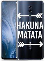 Oppo Reno Hoesje Hakuna Matata white