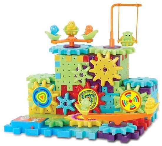 Funny Bricks educatief bouwspeelgoed doos met 87 bouwdelen type 5960 2 | inclusief motor voor bewegende delen