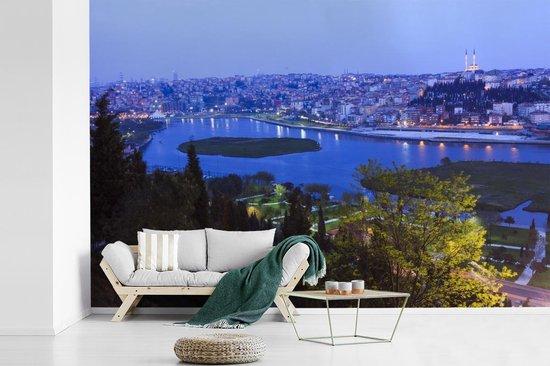Fotobehang vinyl - Schitterend blauw water voor Istanbul breedte 540 cm x hoogte 360 cm - Foto print op behang (in 7 formaten beschikbaar)