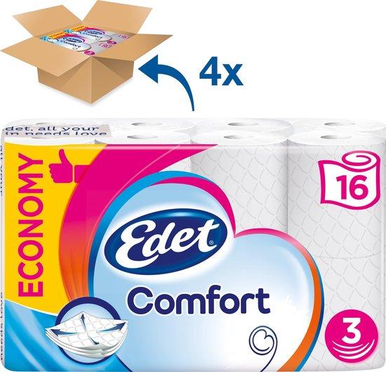 Edet Comfort - 3-laags wc papier - 64 rollen
