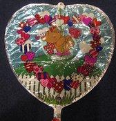 folieballon - happy valentine's day - leeg