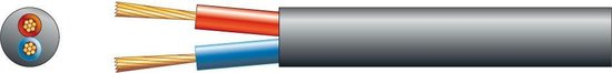 100V Luidsprekerkabel 2x 2.5mm 25A - Zwart - rol van 100 meter
