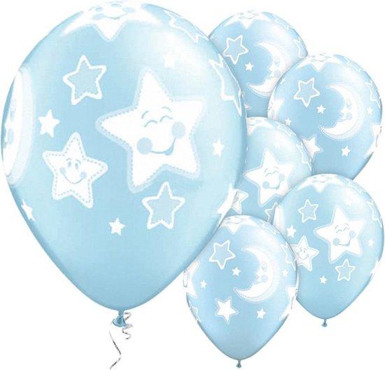 Ballonnen - Moon & Stars Blauw - 5 stuks