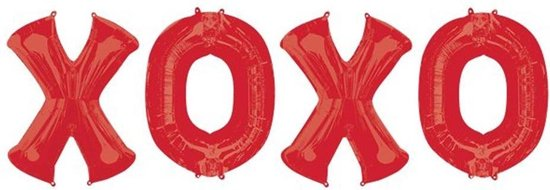 Bunch XOXO 4 Foil Balloons P95Packaged