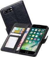 Apple iPhone 7 Plus / 8 Plus Portemonnee Hoesje Booktype Wallet Case Zwart
