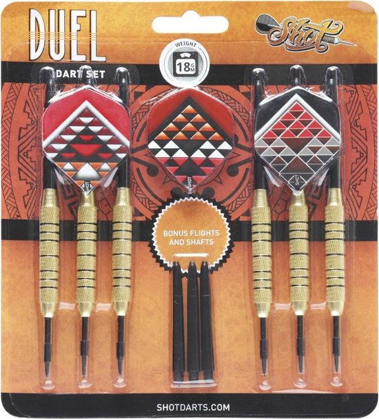 Shot Duel Brass Plated Steeltip 18 gram Dartpijlen
