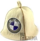 "saunamuts ""Automotive"" met logo BMW geborduurd polyester vilt A-231"