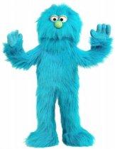 Handpop Blauw Monster Sillypuppets
