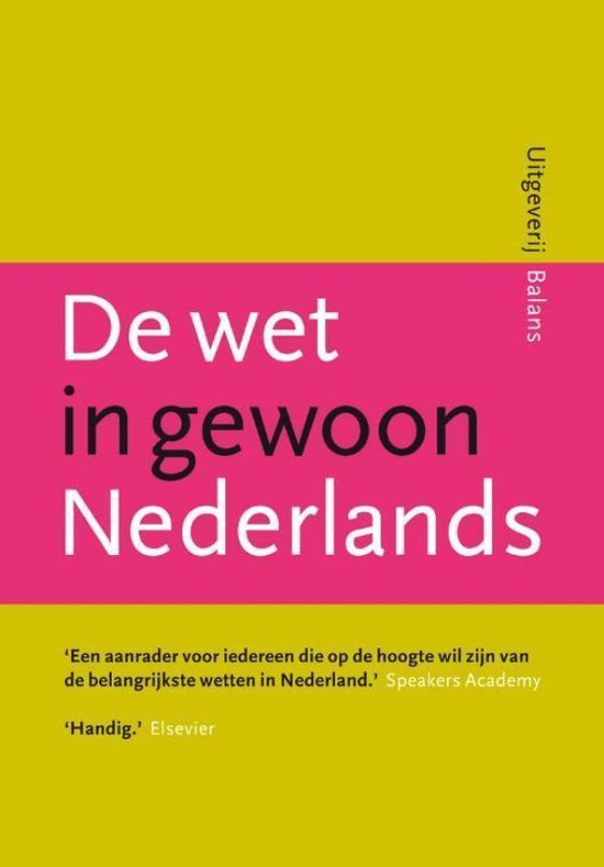 De wet in gewoon Nederlands - Douwe Brongers pdf epub