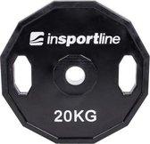 Olympische Halterschijf Insportline  - 50 mm - Ruberton 20 kg