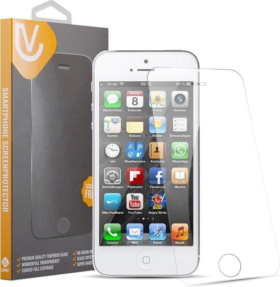 GRATIS 1 + 1 iPhone 5 5S 5C SE Glazen tempered glass Screen protector 2.5D 9H (0.3mm)
