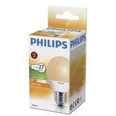 Philips Spaarlamp Flame kogel 8W E27