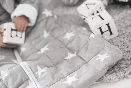 Jollein Little Star Padded Babyslaapzak met afritsbare mouw - 90 cm - Grijs