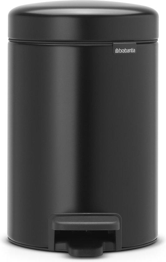 Brabantia newIcon Prullenbak - 3 l - Matt Black