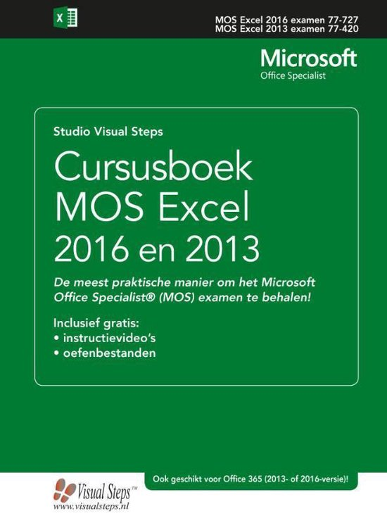 Cursusboek MOS Excel 2016 en 2013 Basis - Studio Visual Steps | Fthsonline.com