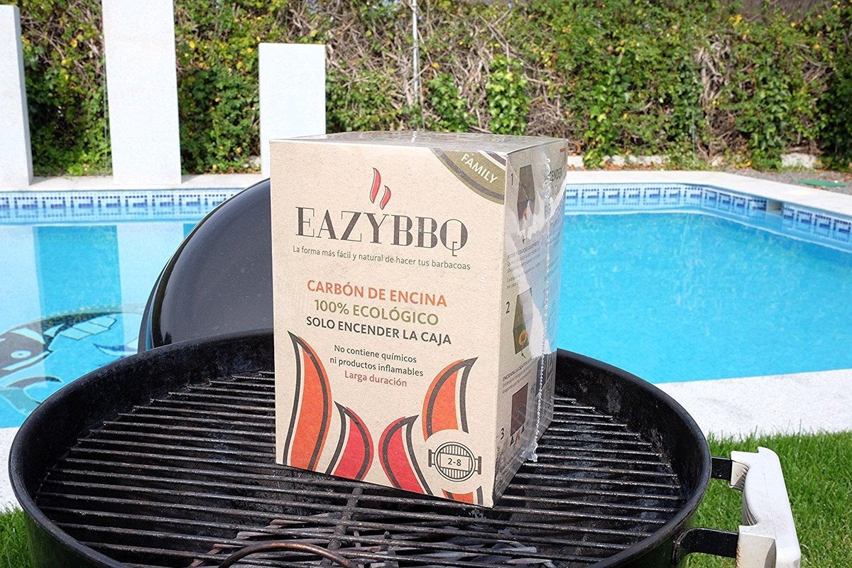 Eazy BBQ - Family pakket - Barbecue Houtskool - Eiken houtskool