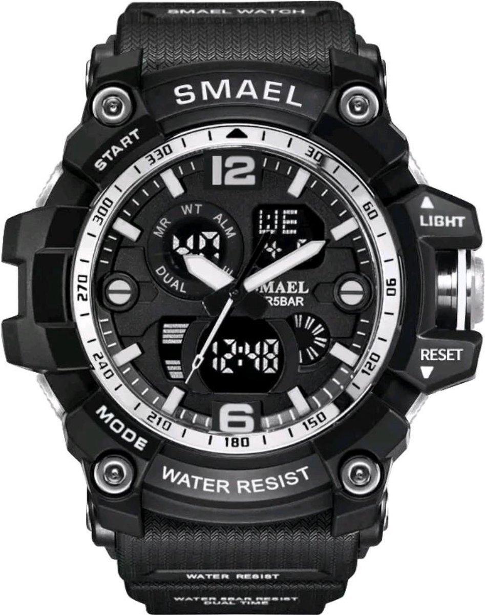 SMAEL Digitale sporthorloge 1617B  Black/Silver - Smael