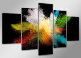 Art4-all - Canvas Schilderij Kleuren explosie - 200x100cm