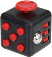 Fidget Cube Friemelkubus - Anti Stress Speelgoed - Zwart/Rood