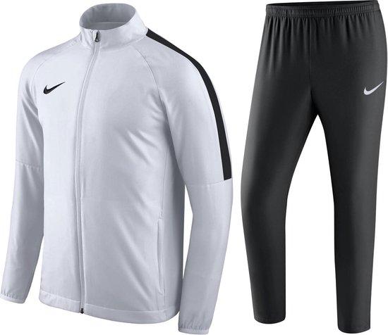 Nike Academy 18 Trainingspak Kinderen Wit Zwart | Maat: 164