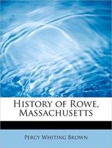 History of Rowe, Massachusetts