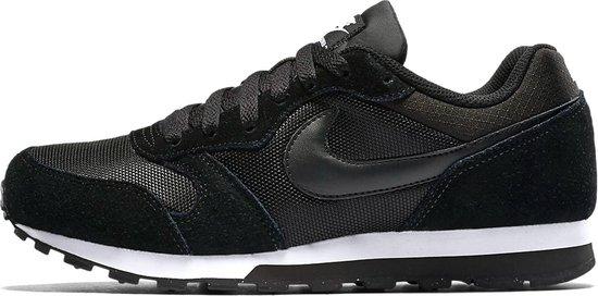 Nike Md Runner 2 Dames Sneakers - Black/Black-White - Maat 38