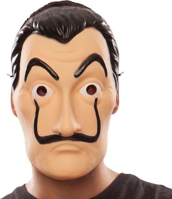 La casa de Papel overvaller / bankrover masker - Salvador Dali - carnaval gezichtsmasker