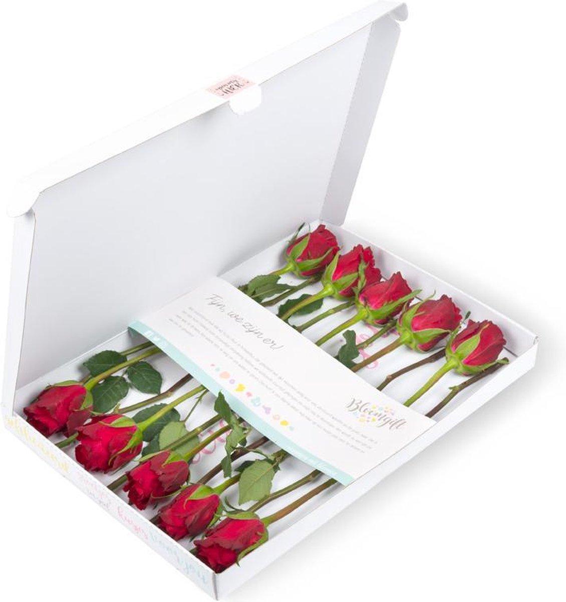 Brievenbusbloemen rode rozen