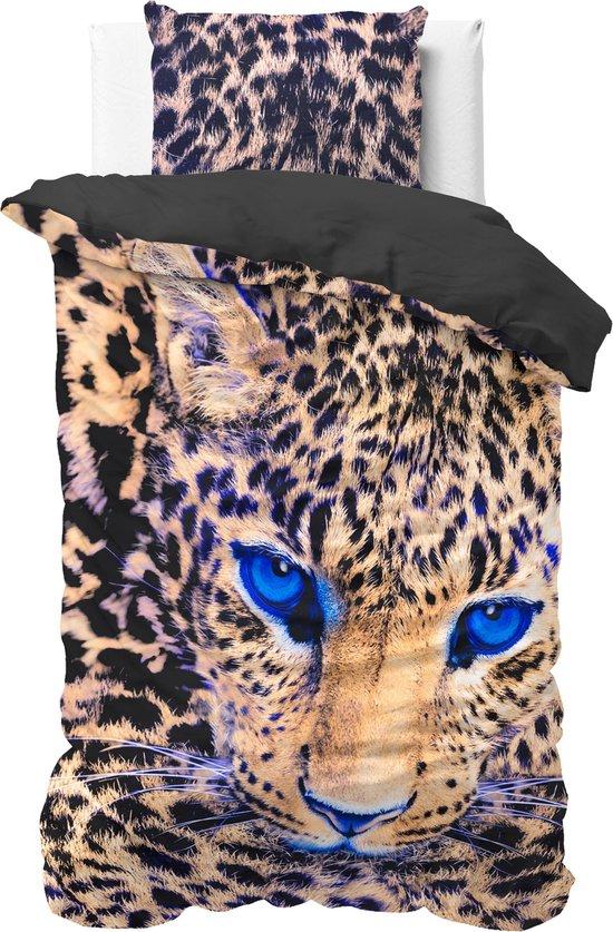 Dreamhouse Cheetah - Dekbedovertrek - Eenpersoons - 140x200/220 + 1 kussensloop 60x70 - Taupe